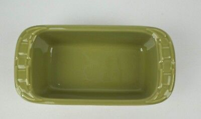 Longaberger Woven Traditions Pottery Small Green (Sage)  Bread Loaf Pan Dish ()