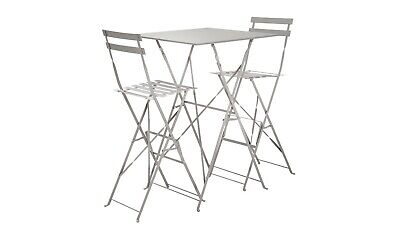 Home Eve 2 Seater Bar Bistro Set - Grey