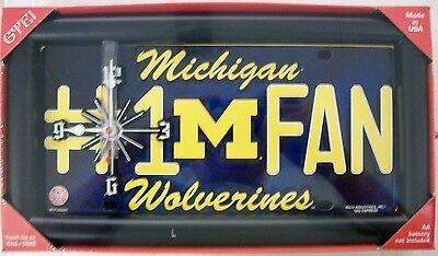 Michigan Wolverines #1 Fan License Plate Clock ()