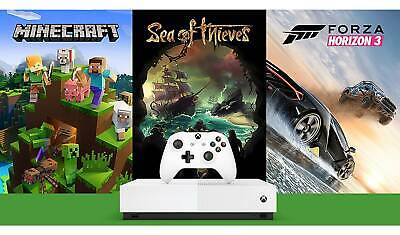 Microsoft Xbox One S All Digital Edition 3 Game Console Bundle White 4K UHD 1TB