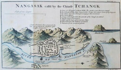 Map Nangasak Nagasaki japon
