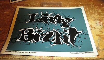 LIMP BIZKIT STICKER VINTAGE  NEW FROM LATE 1999 HEAVY METAL WOW