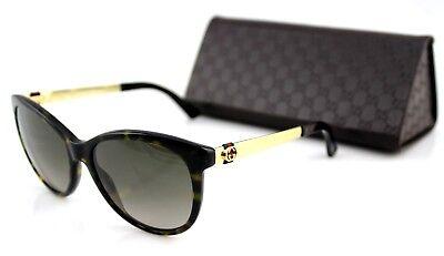 025424299d0 RARE NEW Genuine GUCCI Dark Havana Gold Brown Sunglasses GG 3784 S ANT HA