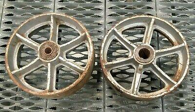 Lot Of 2 10 Cast Iron Caster Wheel