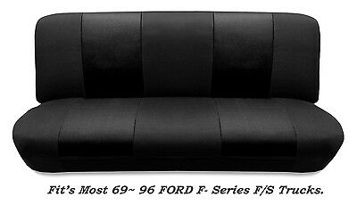Mesh Black Full Size Bench Seat Cover Fits Most 69-96 Ford F- Series -