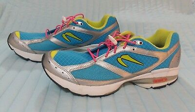 finest selection 26126 81b08 NEWTON ~ LADY ISAAC ~ BLUE SILVER ~ WOMEN S RUNNING SHOES ~ SIZE 11 M ~ EUC