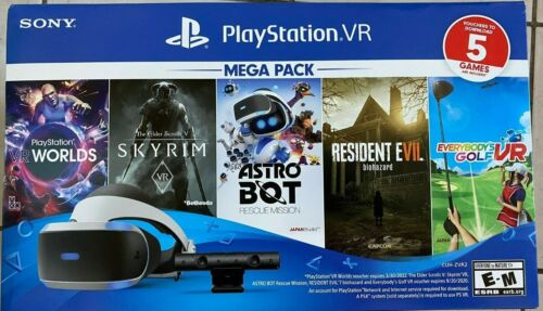 New 2020 Sony PlayStation VR Mega Pack with 5 Five Game bundle PS4