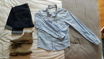 Abercrombie & Fitch - Blue & White Striped - Summer Shirt - M