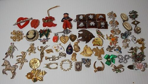 Lot of jewelry - charms, parts and pieces - for crafting, junk journals -