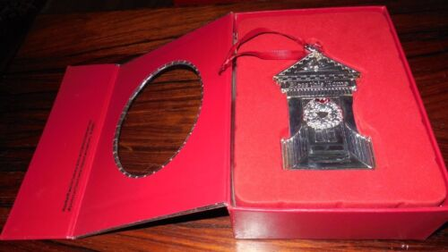 """Waterford Holiday Silver-plate Ornament """"Bless This House 2012"""""""