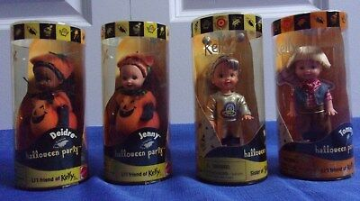 Halloween Party Target Deidre-Jenny-Kelly-Tommy NRFB 2000 Lot-4 Dolls Excellent  - Kelly Halloween 4