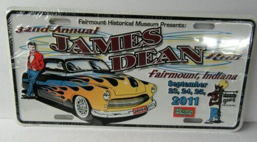 James Dean Run 2011 License Plate Fairmount 32nd Annual - Sealed - JR81