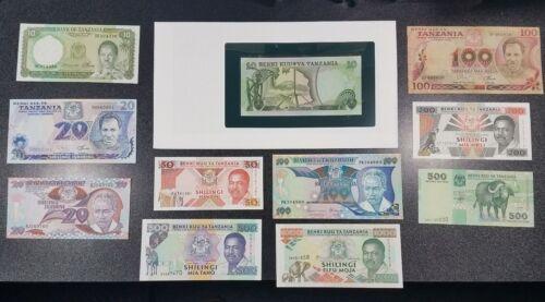 Lot of 11 Banknotes of TANZANIA 10 20 50 100 200 500 1000 SHILLINGS Nice Lot #5B