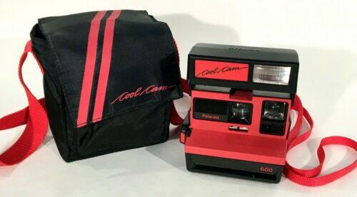 Vtg Polaroid 600 Cool Cam 600 Red / Black Camera Tested/Works