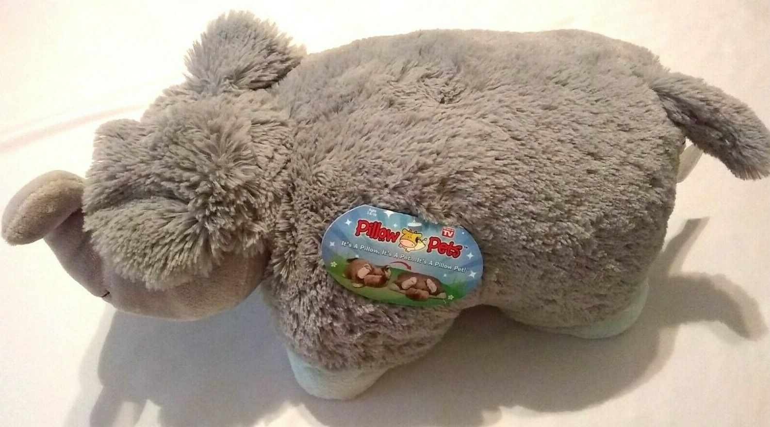 Pillow Pets Nutty Elephant Gray with Blue  2010