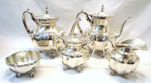 Vintage STERLING Silver FarFan 5pc Coffee/Tea Service Set