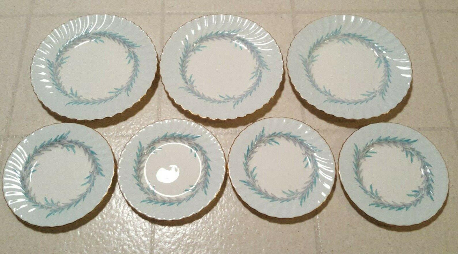 Minton Symphony Bread Dessert Plate Bone China S557 Salad Luncheon Plate 7 Piece - $29.95