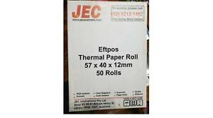 Eftpos Thermal Paper Rolls 57x40x12mm, 50 Box Pack Gladesville Ryde Area Preview