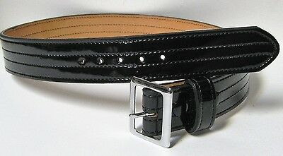 "MIXSON 1.75"" HI GLOSS DUTY BELT 257L SIZE 28 POLICE SECURITY NOS EXCELLENT"