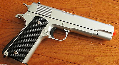M1911 Replica Handgun Full Metal Silver Airsoft Pistol