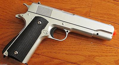 M1911 Replica Handgun Full Metal Silver Airsoft Pistol