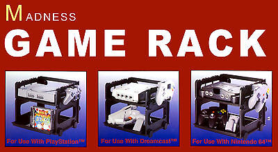 Brand Madness Game System Rack (dreamcast, Psone, Nintendo 64)