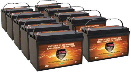 <10> SLR125 SOLAR AGM BATTERY HI CAPACITY MAINT FREE VMAX SOLAR BATTERY