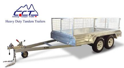 8×5 FULL WELDED TANDEM BOX TRAILER WITH 600MM CAGE Salisbury Brisbane South West Preview