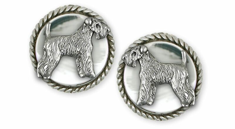Soft Coated Wheaten Terrier Jewelry Sterling Silver Handmade Wheaten Cufflinks