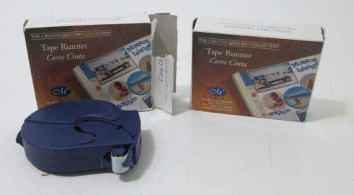 2 New Creative Memories 34ft Tape Runner Double Sided Adhesive Dispenser 2003