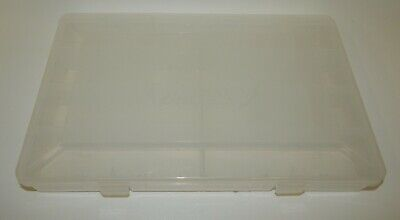 Details about  /BRAND NEW Bass Pro Shop Clear Plastic Utility Fishing Lure Tackle Box 3 Sizes
