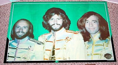SGT. PEPPER'S Movie BEE GEES Green Foil Mylar Poster 1978 Stigwood Brite Ideas