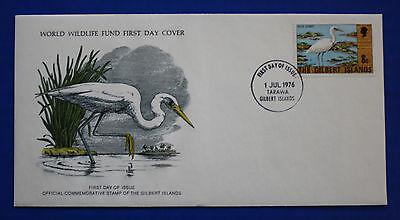 Gilbert Islands (273) 1976 Reef Egret WWF FDC