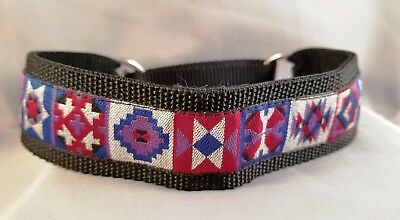 """1.5"""" Abstract Safety Martingale Dog Walking Collar  Donation 2 Cure K9 Cancer"""