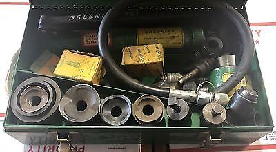 Greenlee No. 7306 Knockout Punch Set W Hydraulic Hand Pump 767