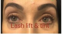 Eyelash lift and tinting $65