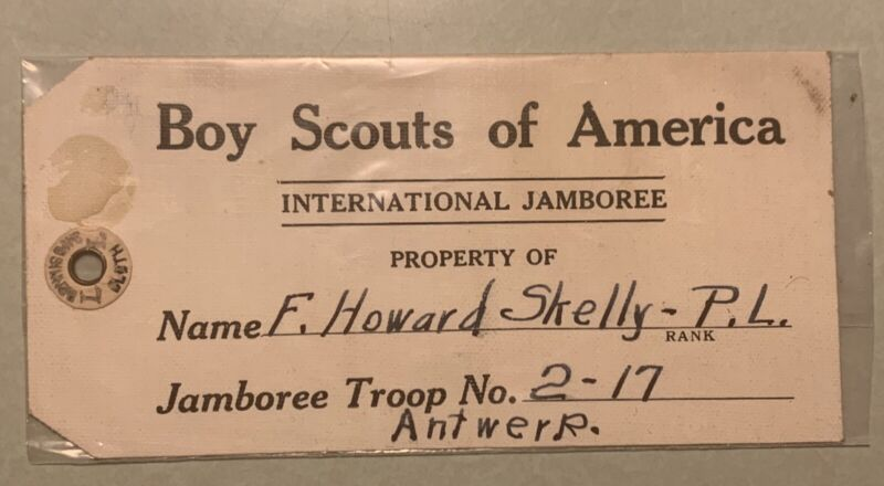 Boy Scout Of America 1920 Lougage Tag Rare (C-2-33)