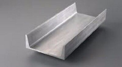 6061 12 Aluminum Channel - 5 Legs X 38 Web Thickness - 48 Long
