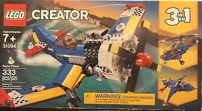 LEGO 3 in1 Creator 31094 Race Plane 333pcs Building Set New Sealed