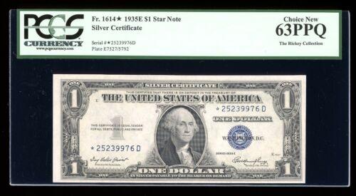 DBR 1935-E Silver STAR Fr. 1614* PCGS 63 PPQ Serial *25239976D
