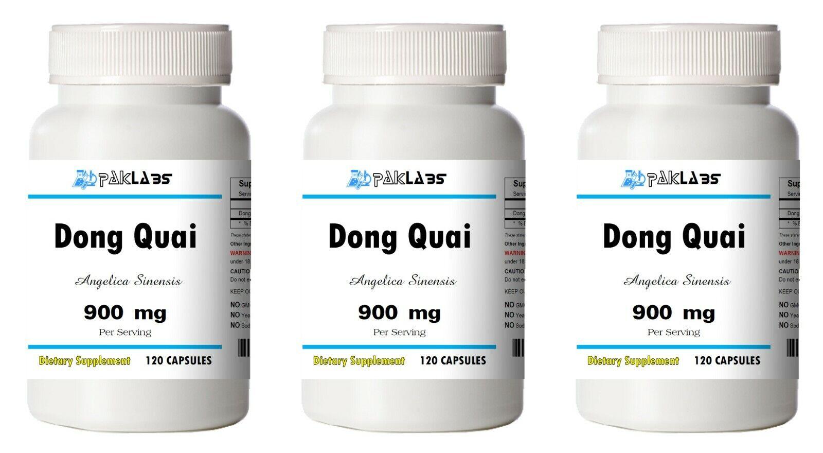Dong Quai 900mg High Potency 1/2/3 BIG Bottles 120/240/360 Capsules FAST SHIP