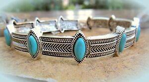 dekoratives halsband ethno indianer stil  türkis similis