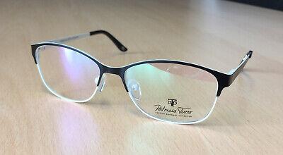 Brille der Marke Patricia Tusso, formschön elegant, schwarz-weiß, neu