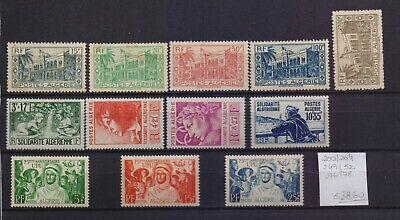 ! Algeria  1944-1949. Stamp. YT#200/204, 249/252, 276/278. €38.60!