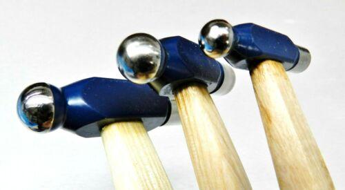 Ball Peen Hammer Set 3 Ball Pein Hammers 1oz 2oz 4oz Hobby Craft Jewelry Making