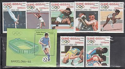 Guinea Bissau 849-56 Summer Olympic Sports Mint NH