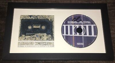 Chris Carrabba Signed Autograph Dashboard Confessional Framed Matted Cd W Proof