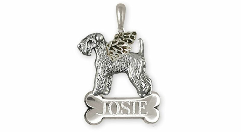 Soft Coated Wheaten Terrier Angel Jewelry Sterling Silver Handmade Wheaten Penda