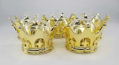 12X Baby Shower favors Fillable Gold Crown Prince/princess Party Decorations/Gif