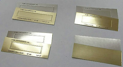 Cawley Plates No Fault -kingsley Hot Stamp -8 Styles - Gold Or Silver - Pk50